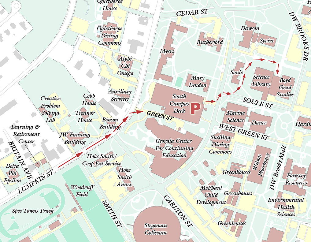 Uga Campus Map With Building Numbers.Uga Parking Map
